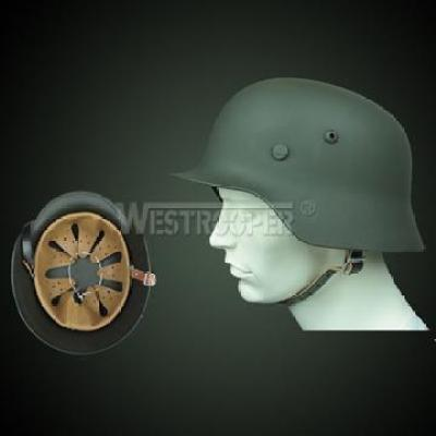 WWII M35 GERMAN INFANTRAY HELMET OD